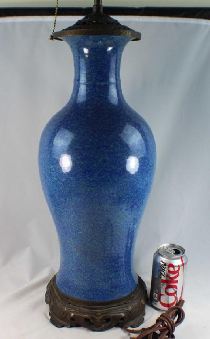 Antique Chinese Porcelain Vase Made Lamp