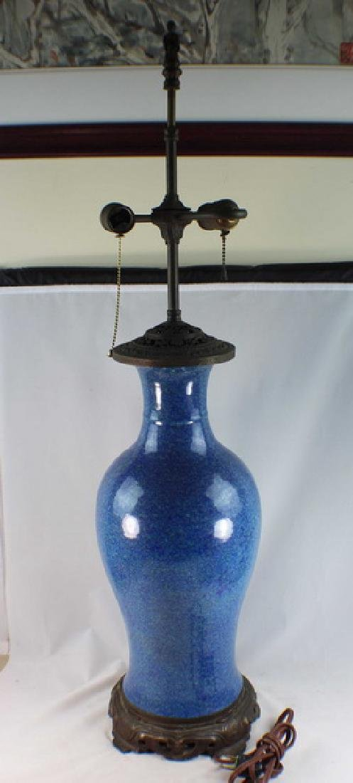 Antique Chinese Porcelain Vase Made Lamp - 2