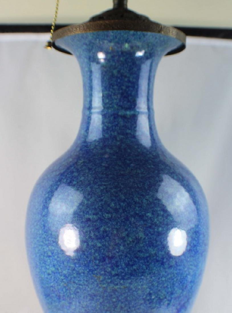 Antique Chinese Porcelain Vase Made Lamp - 3