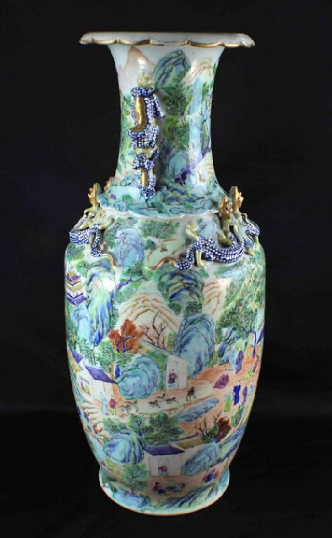Antique Large Chinese Porcelain Vase - 7