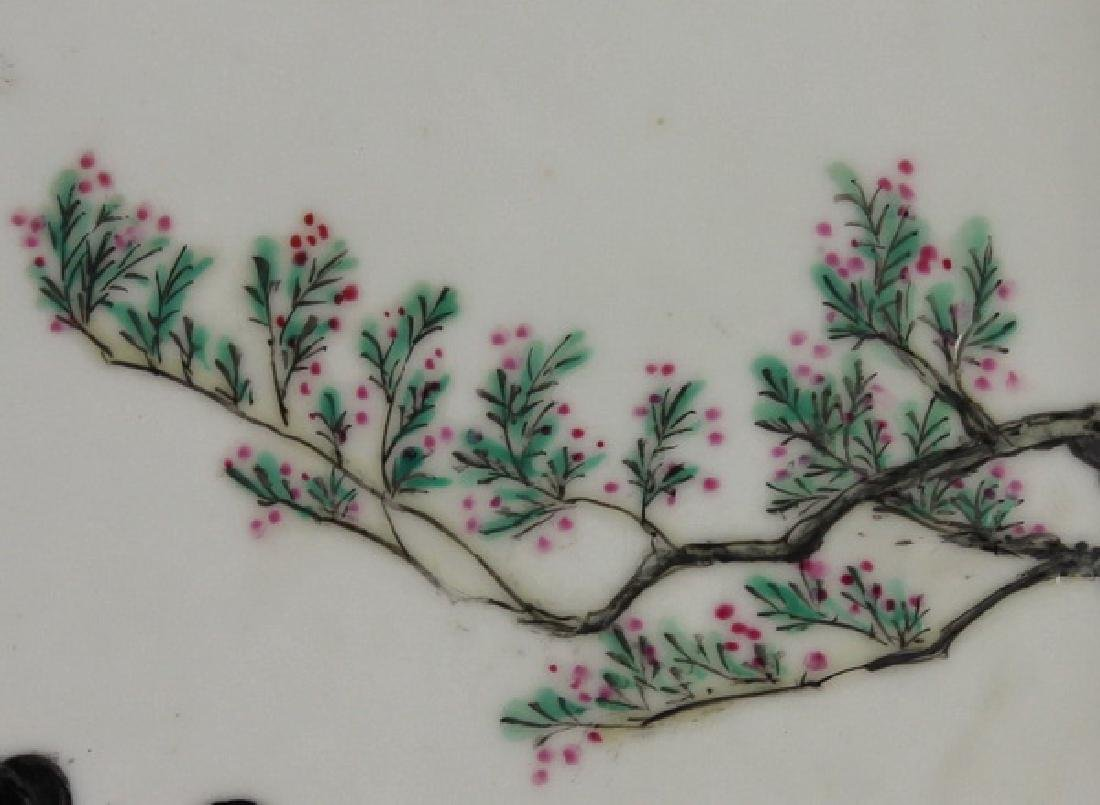 Chinese Hand Painting On Porcelain Hanging Panel - 4