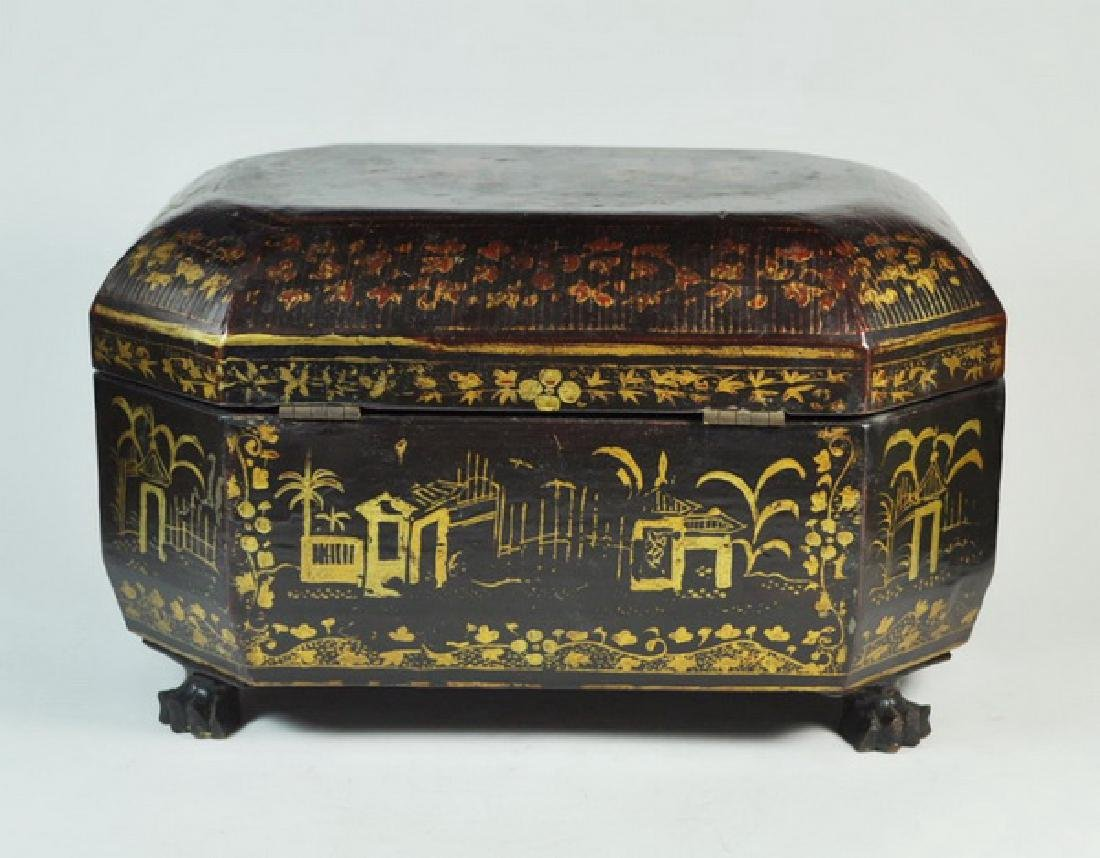 Antique Chinese Hand Painted Box - 4