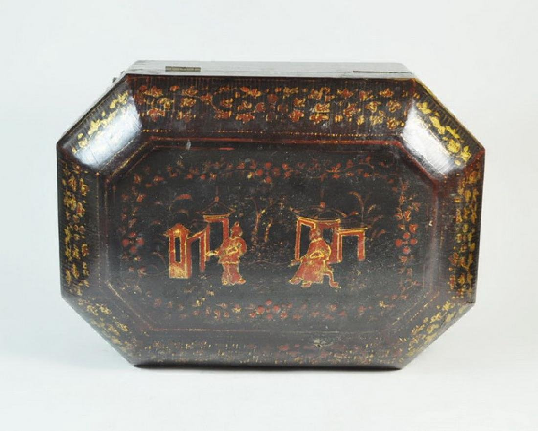 Antique Chinese Hand Painted Box - 5