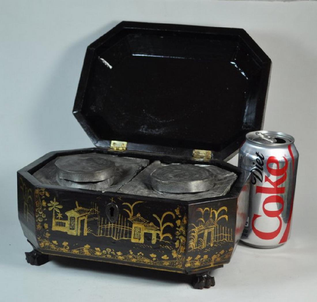 Antique Chinese Hand Painted Box - 7