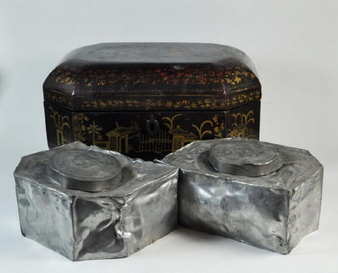 Antique Chinese Hand Painted Box - 9