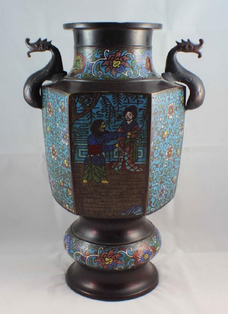 Antique Large Japanese Cloisonne Vase