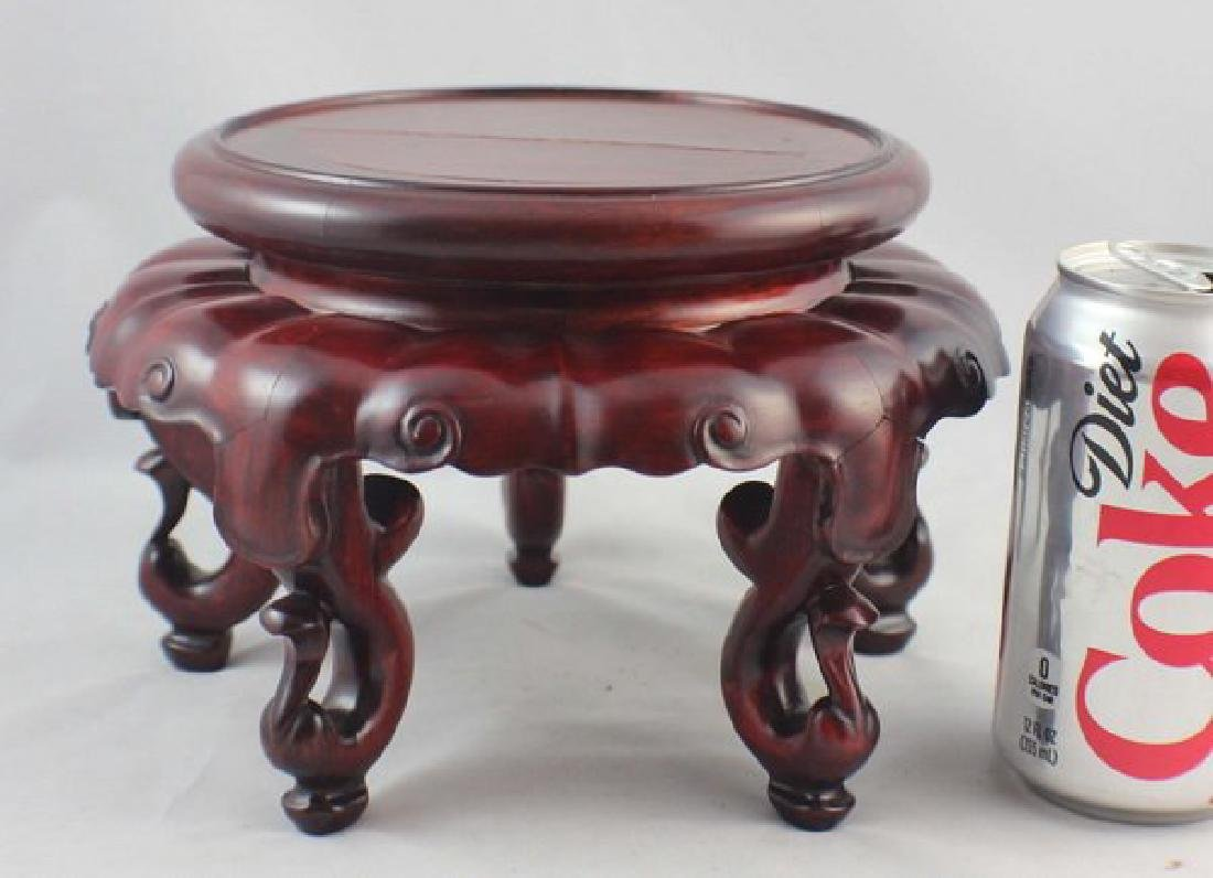 Chinese Carved Wood Stand - 2