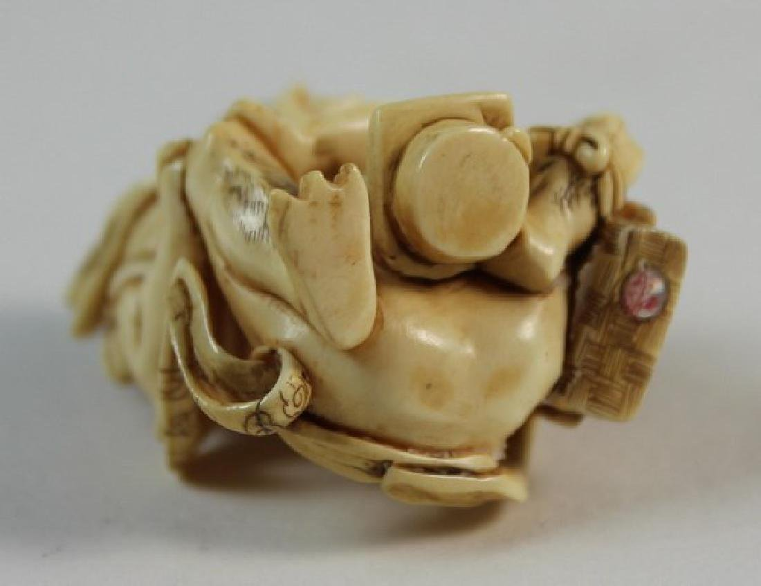 JAPANESE ANTIQUE 19TH C CARVED NETSUKE - 9