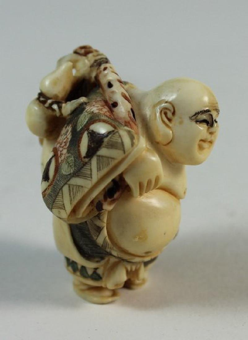 JAPANESE ANTIQUE 19TH C CARVED NETSUKE - 3
