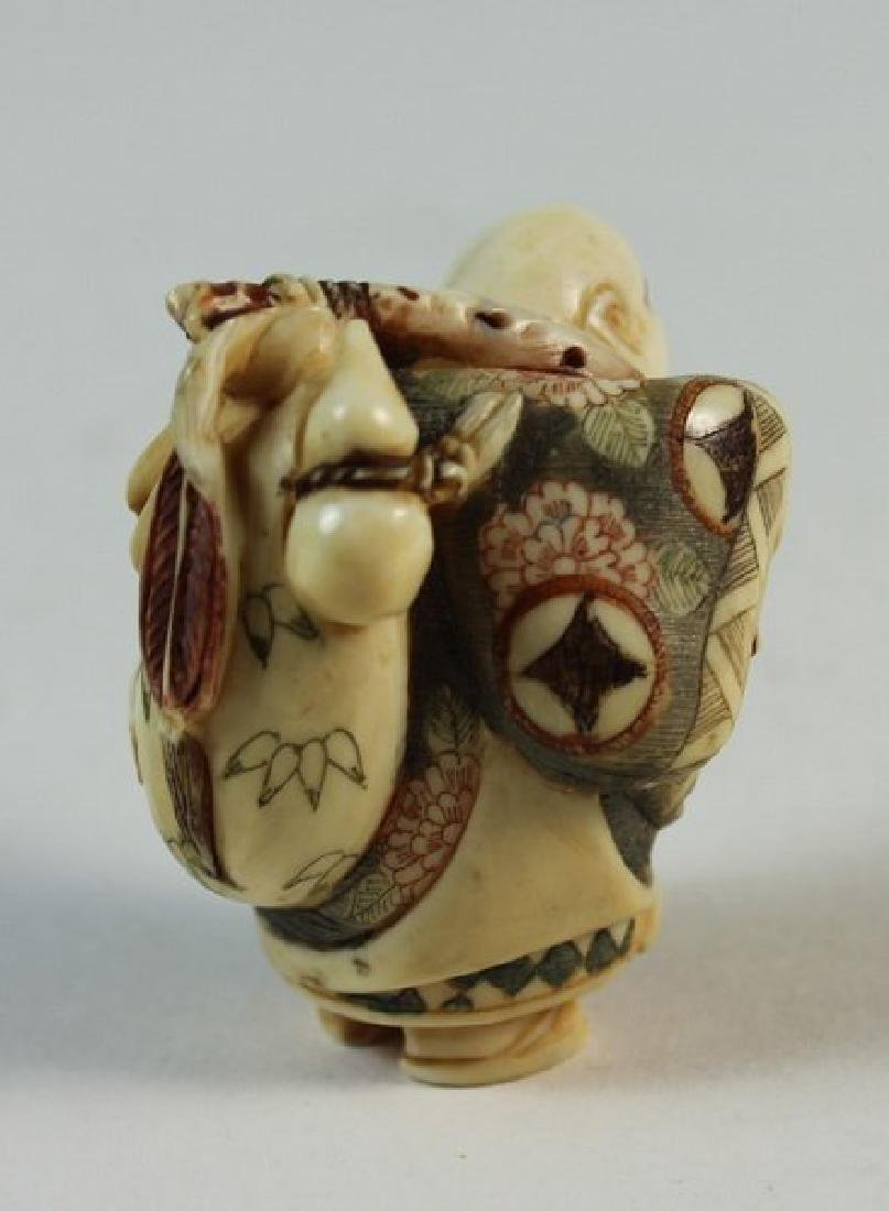 JAPANESE ANTIQUE 19TH C CARVED NETSUKE - 4