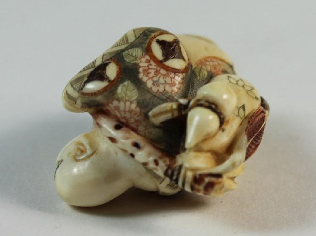 JAPANESE ANTIQUE 19TH C CARVED NETSUKE - 6