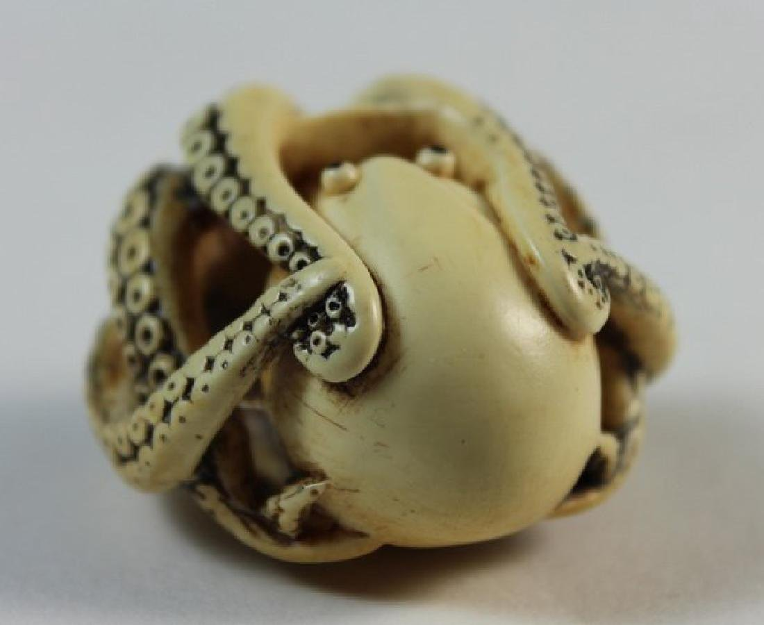 JAPANESE ANTIQUE 19TH C CARVED NETSUKE - 7