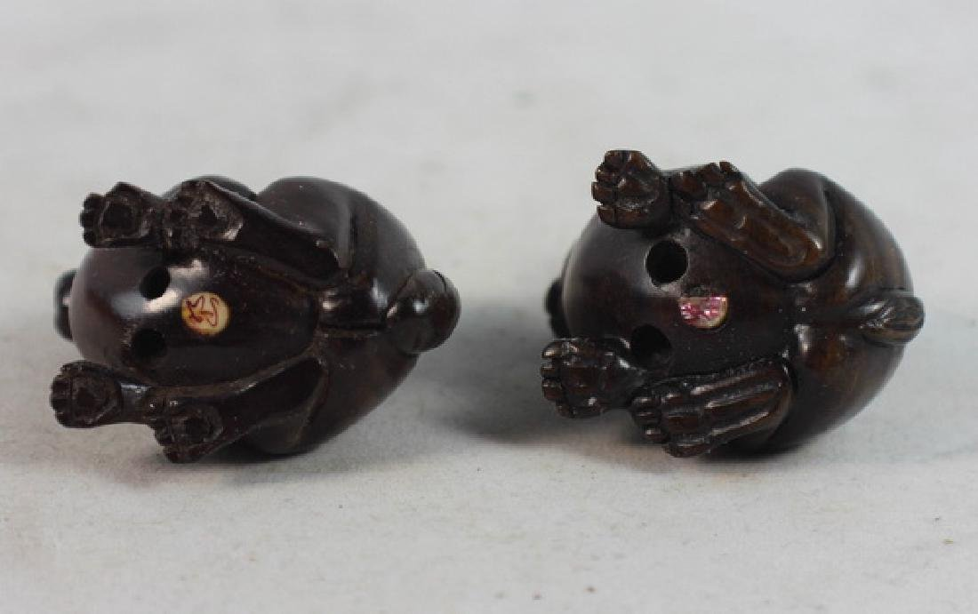 GROUP OF 6 JAPANESE ANTIQUE 19TH C CARVED NETSUKES - 10