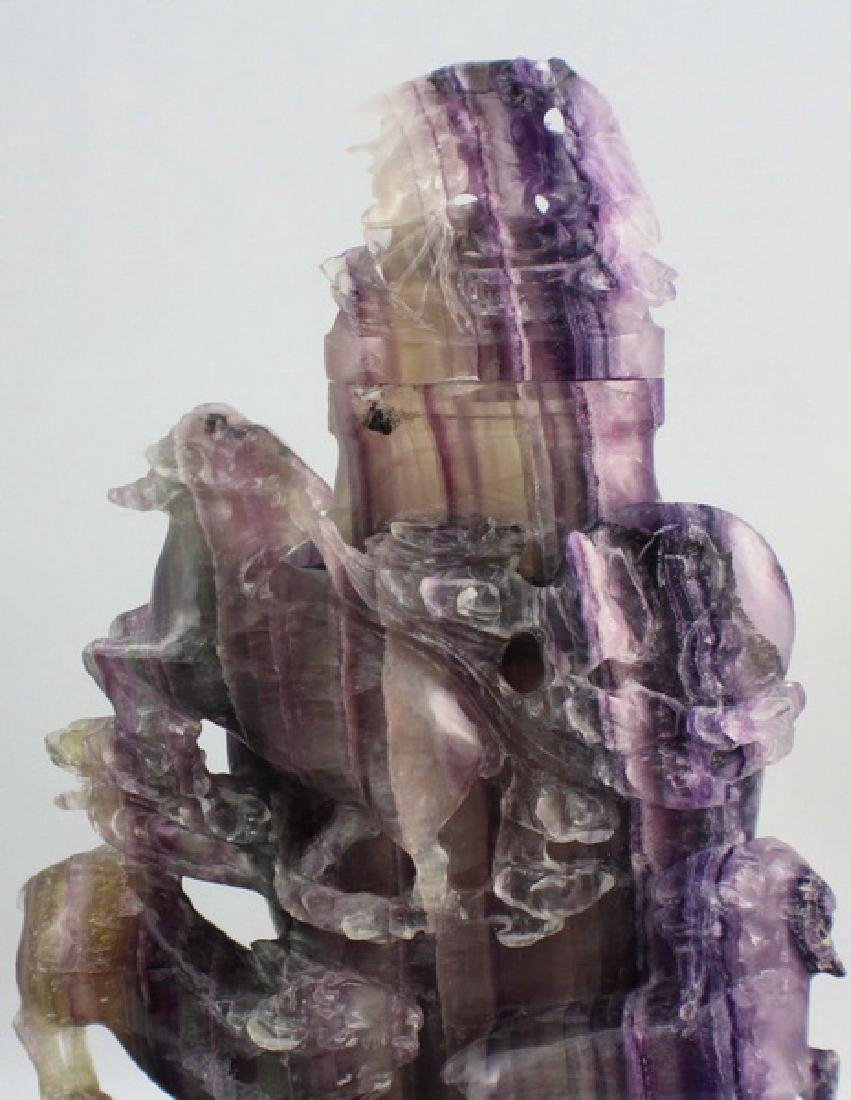 Chinese Carved Amethyst Vase - 3