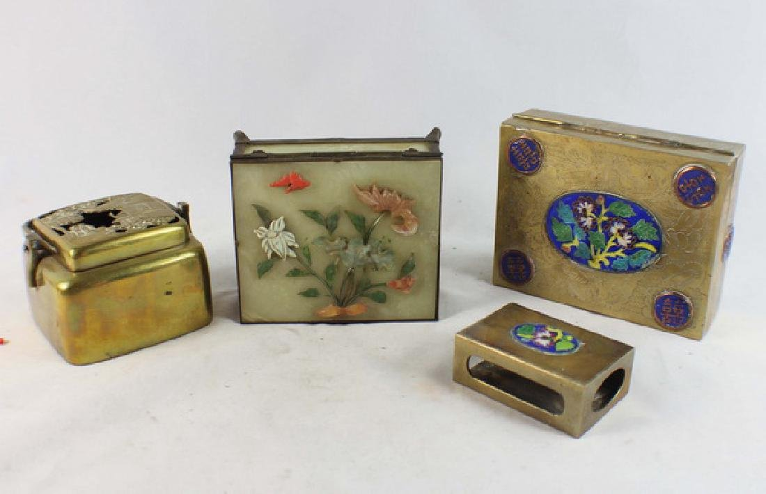 Lot Of 4 Chinese Copper Boxes - 10