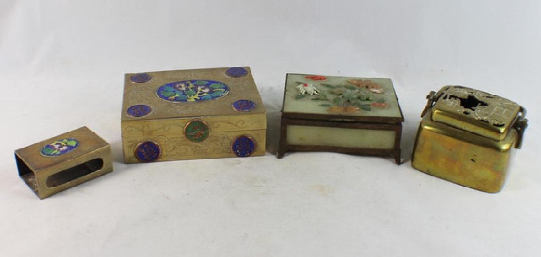 Lot Of 4 Chinese Copper Boxes