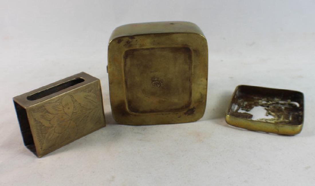 Lot Of 4 Chinese Copper Boxes - 8