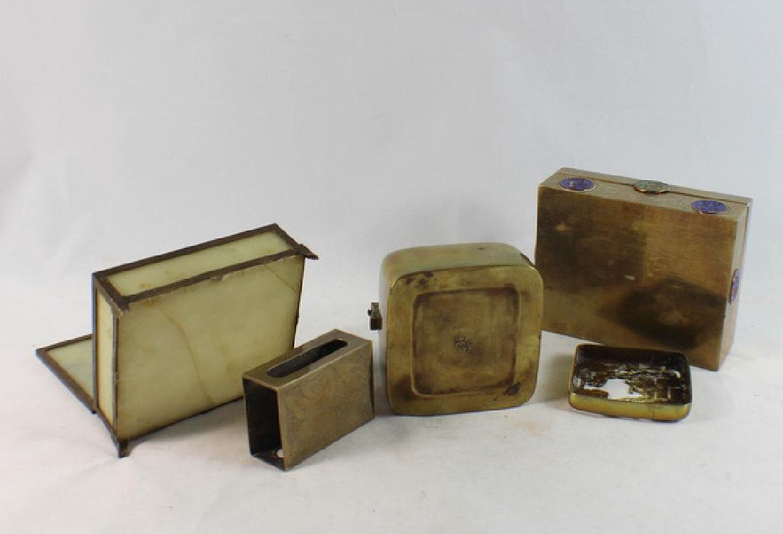 Lot Of 4 Chinese Copper Boxes - 9