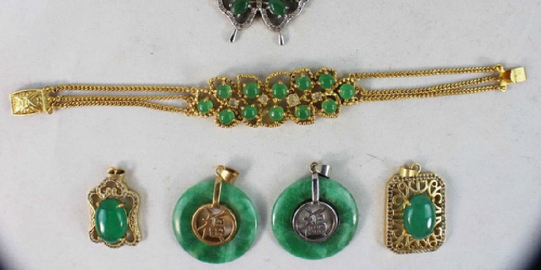 Group Of Carved Jade Jewelry - 3