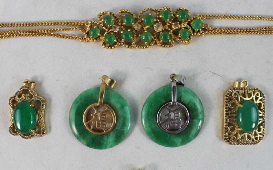 Group Of Carved Jade Jewelry - 4