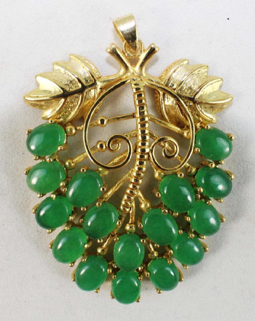 Group Of Carved Jade Jewelry - 5
