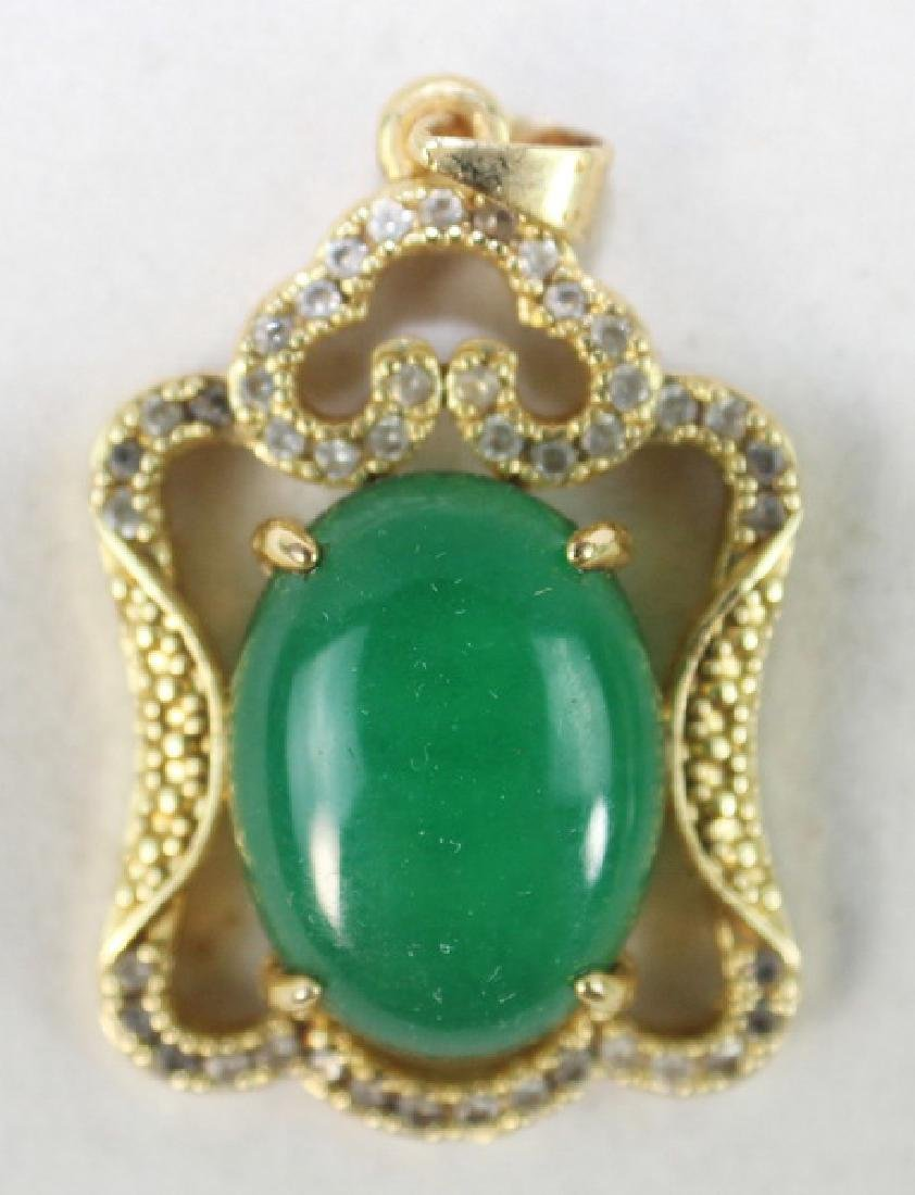 Group Of Carved Jade Jewelry - 6