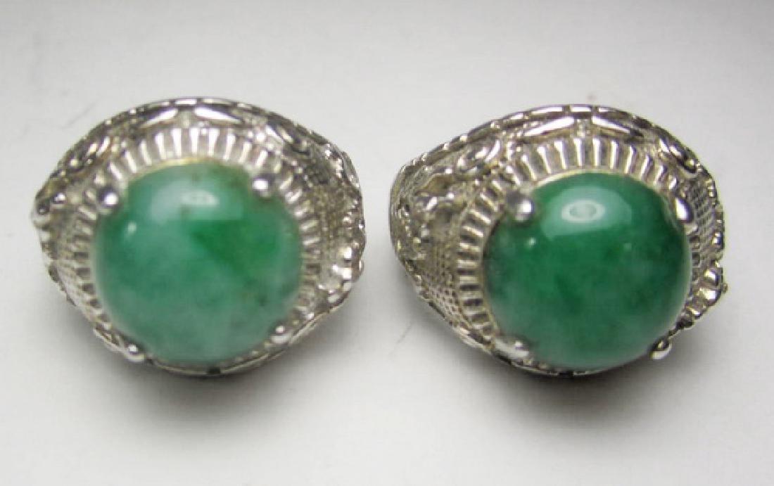 Pair of Jadeite Rings
