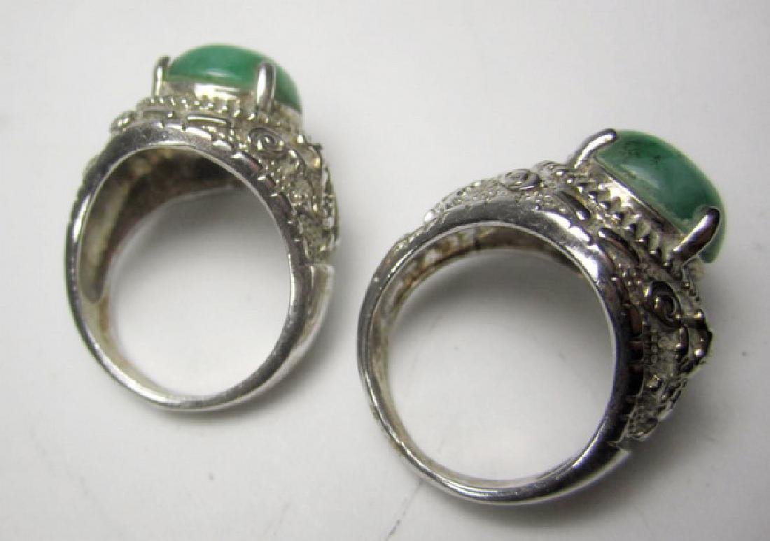 Pair of Jadeite Rings - 2