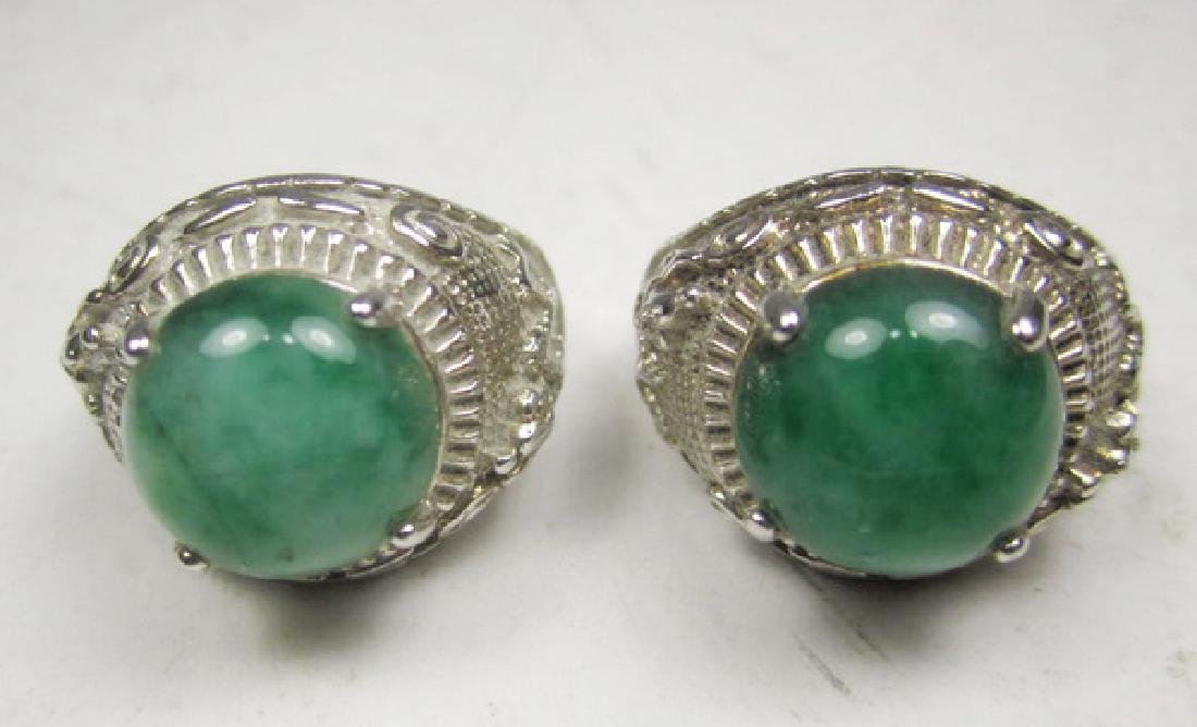 Pair of Jadeite Rings - 3