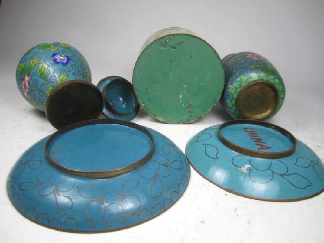 Five Old Cloisonne Items - 2