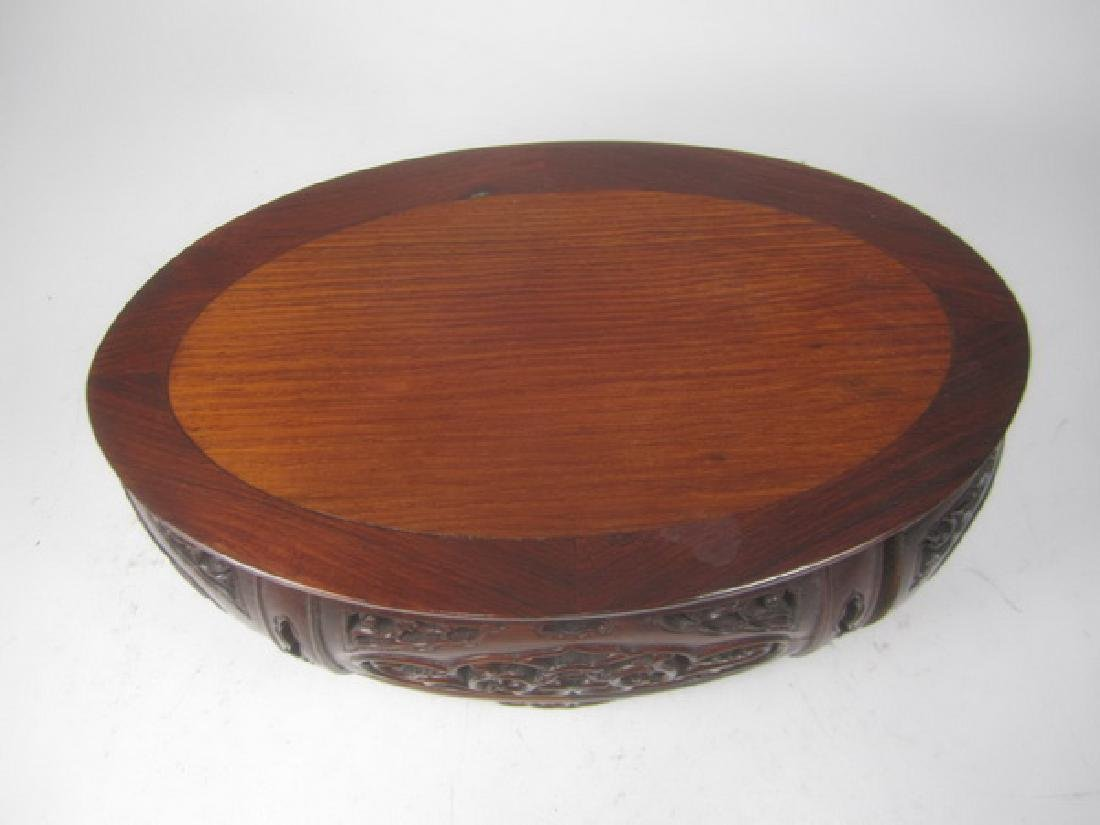 A Carved Rosewood Stand - 5