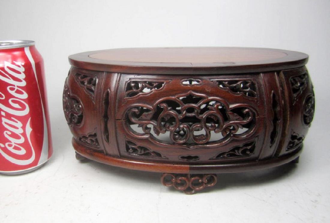 A Carved Rosewood Stand - 6