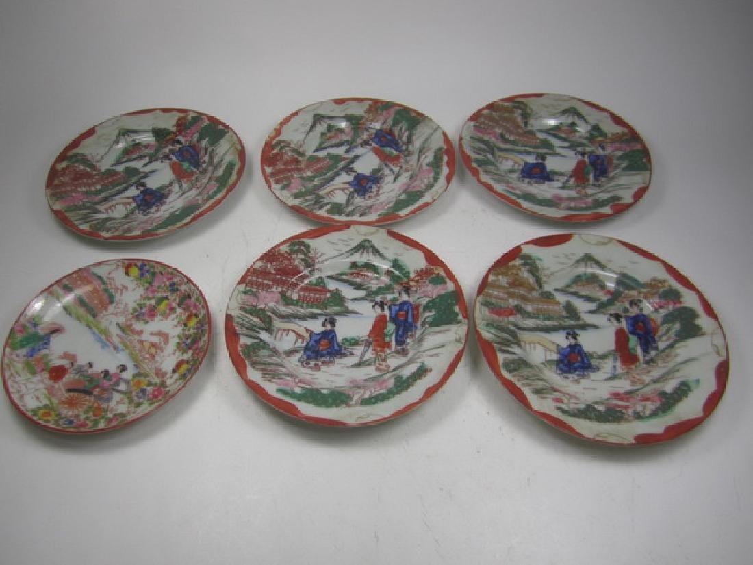 Six Antique  Japanese Imari Dishes