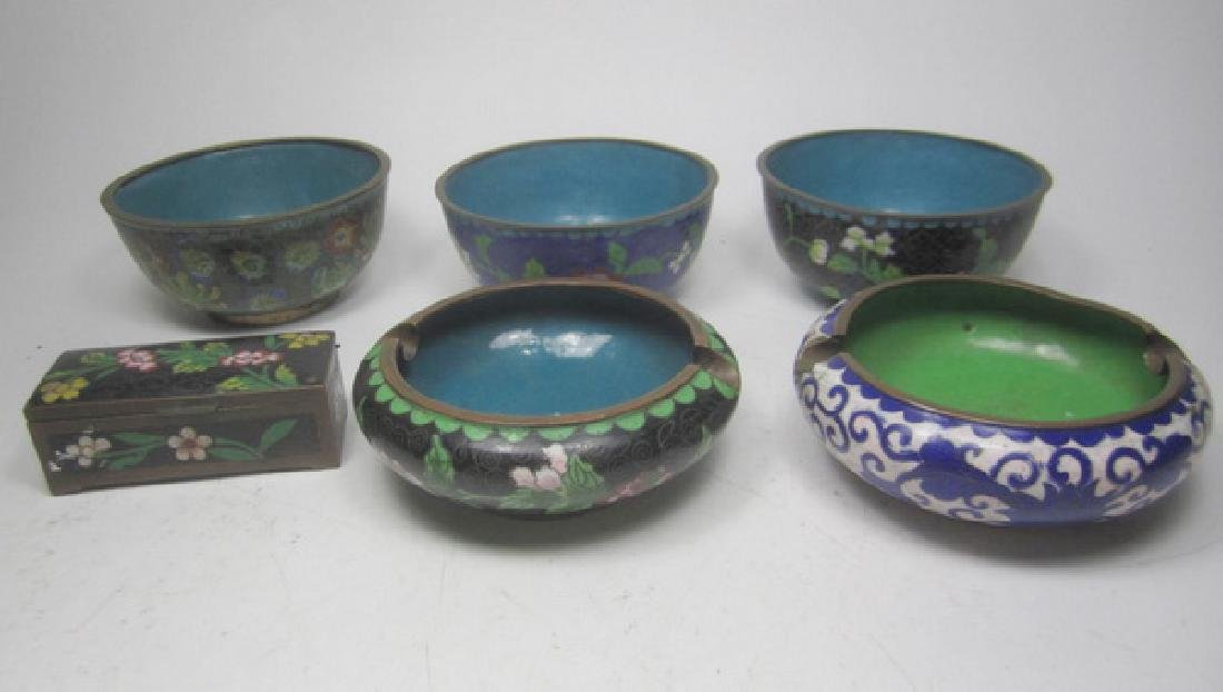 Six Old Chinese Cloisonne Items