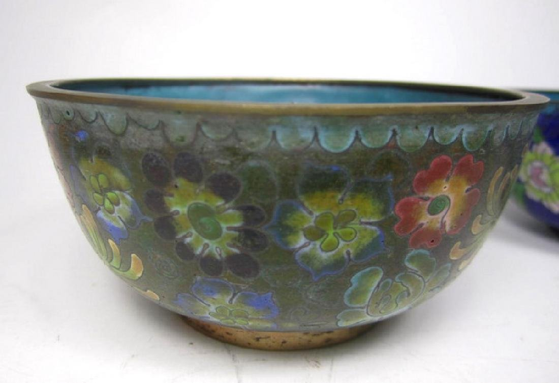 Six Old Chinese Cloisonne Items - 2