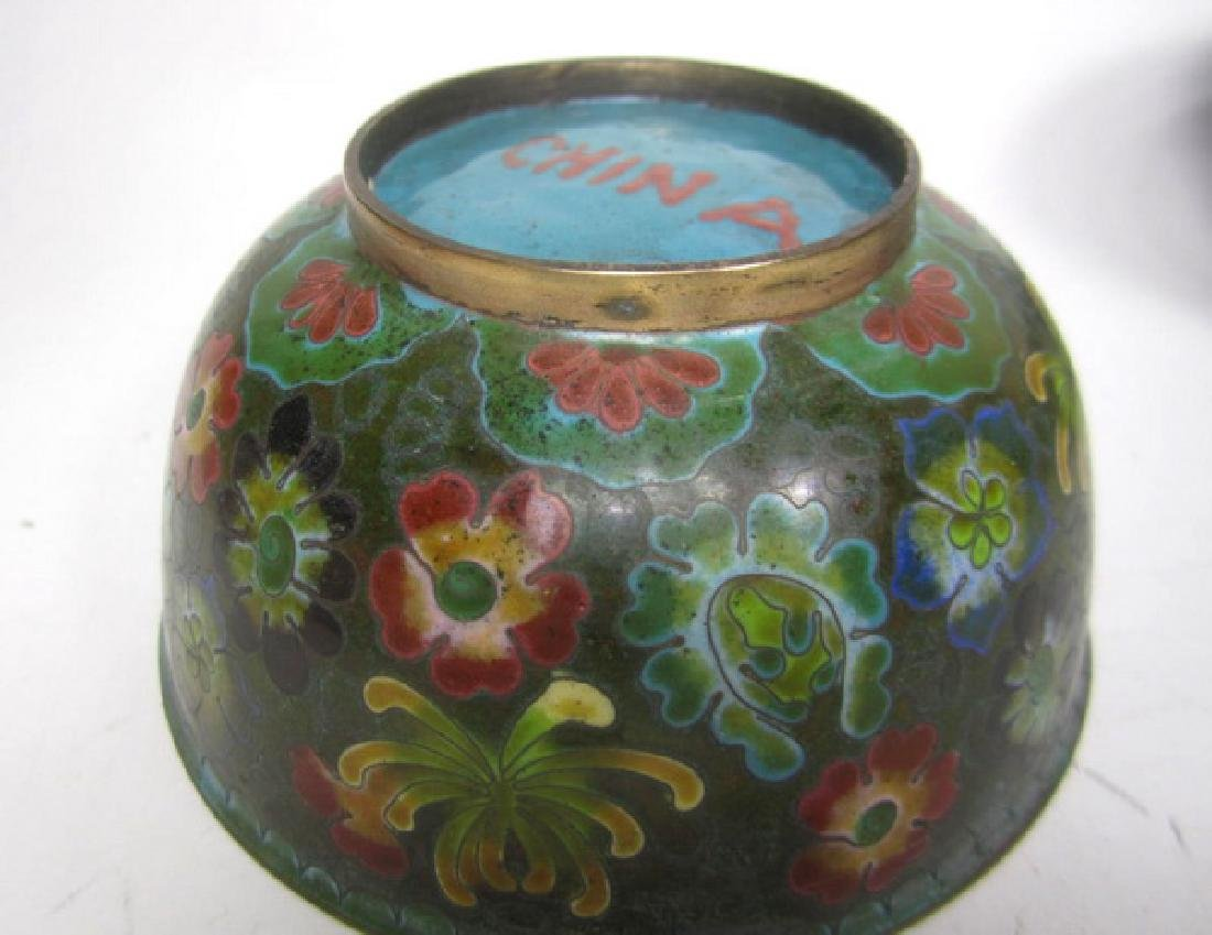 Six Old Chinese Cloisonne Items - 3