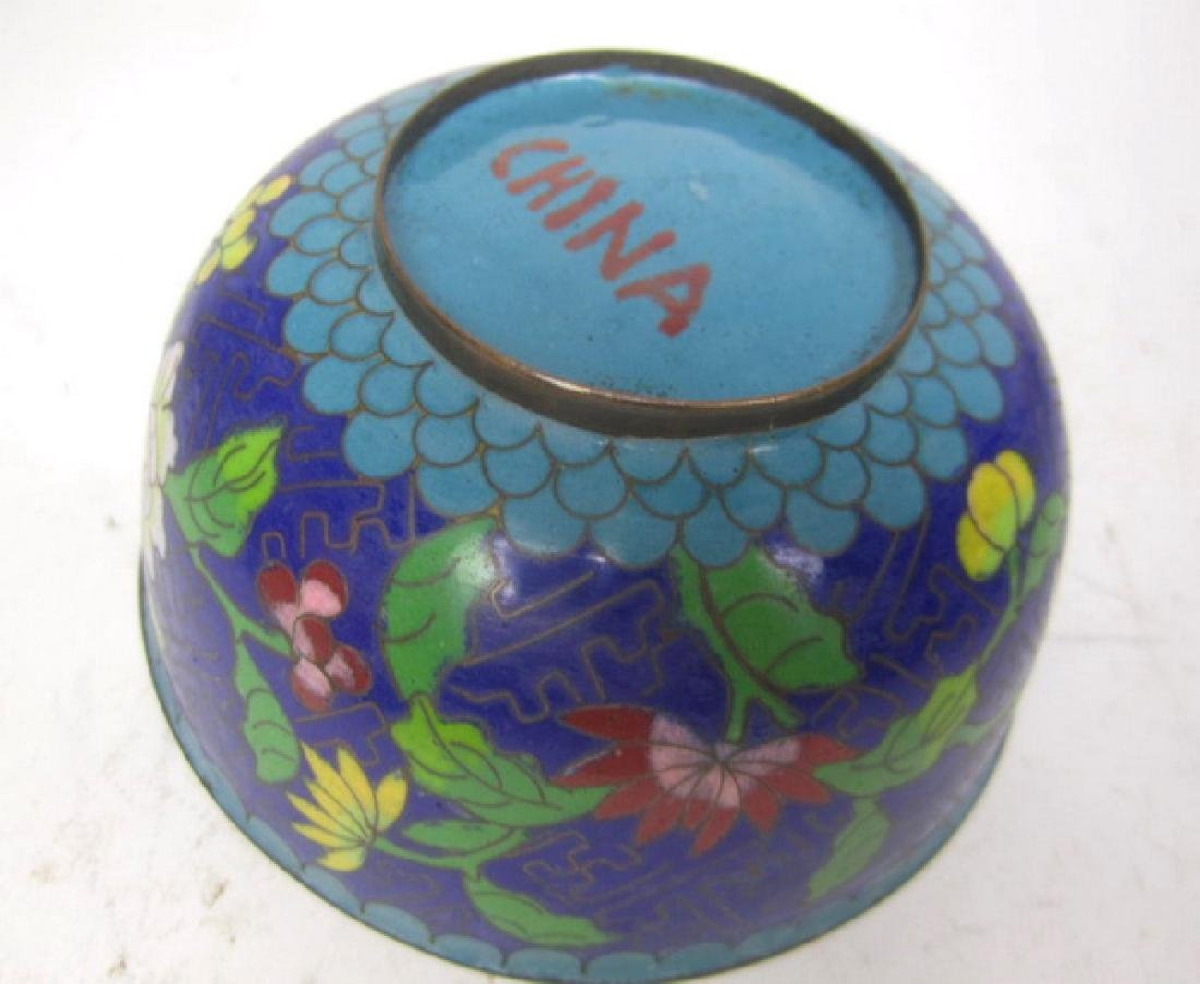 Six Old Chinese Cloisonne Items - 4