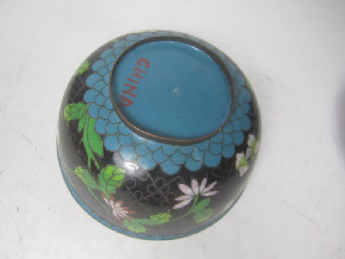 Six Old Chinese Cloisonne Items - 5