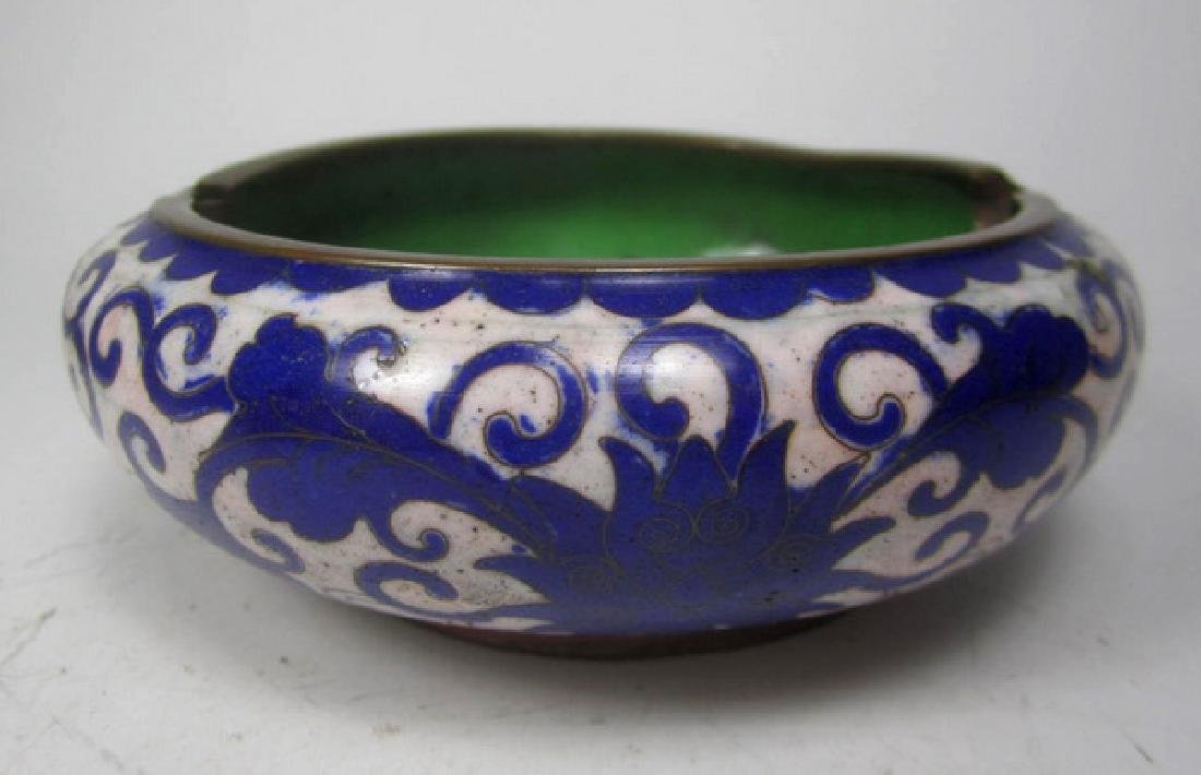 Six Old Chinese Cloisonne Items - 6