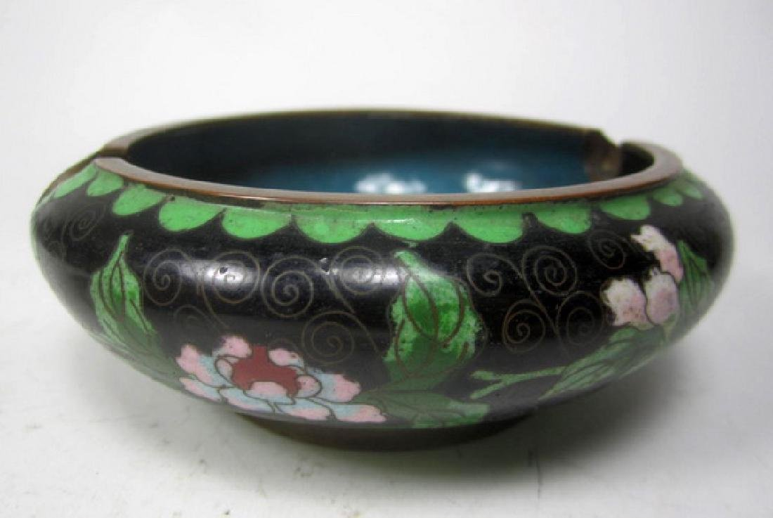 Six Old Chinese Cloisonne Items - 7