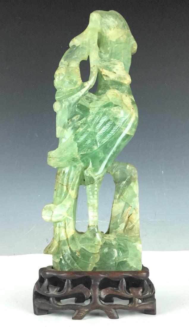 """17"""" Large Jade carving bird"""