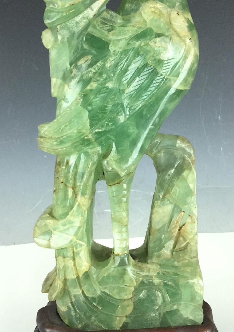 """17"""" Large Jade carving bird - 3"""