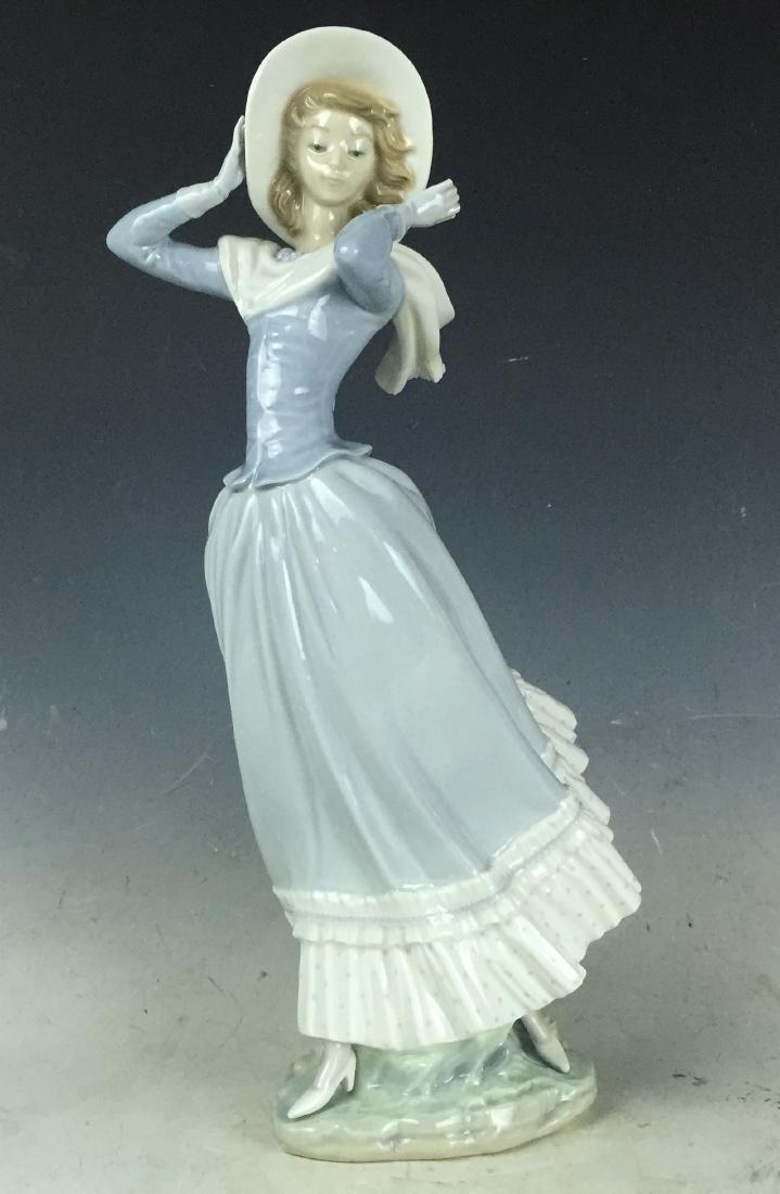 """14"""" Large Retired Lladro Porcelain #4936 Spring Breeze"""