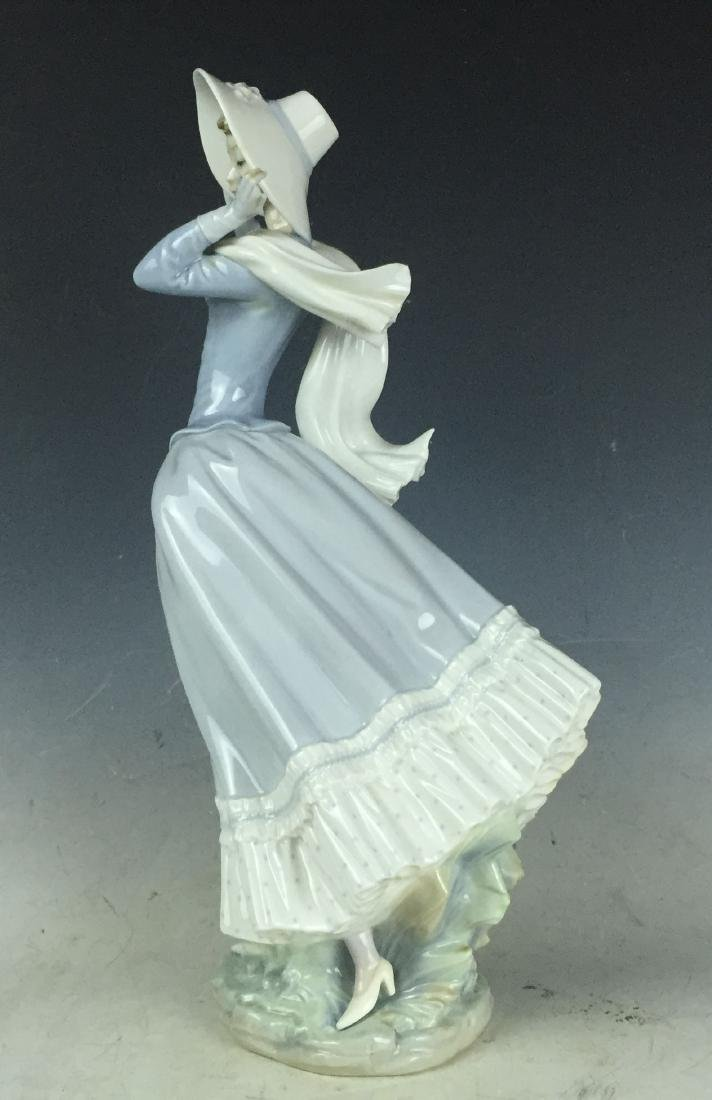 """14"""" Large Retired Lladro Porcelain #4936 Spring Breeze - 3"""