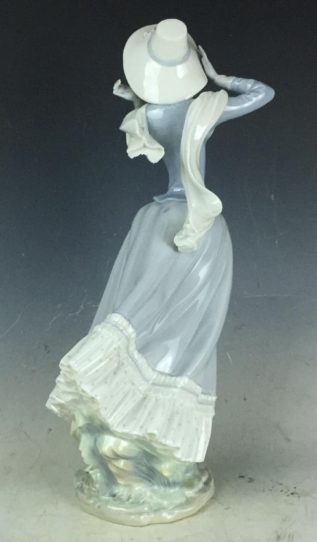 """14"""" Large Retired Lladro Porcelain #4936 Spring Breeze - 4"""