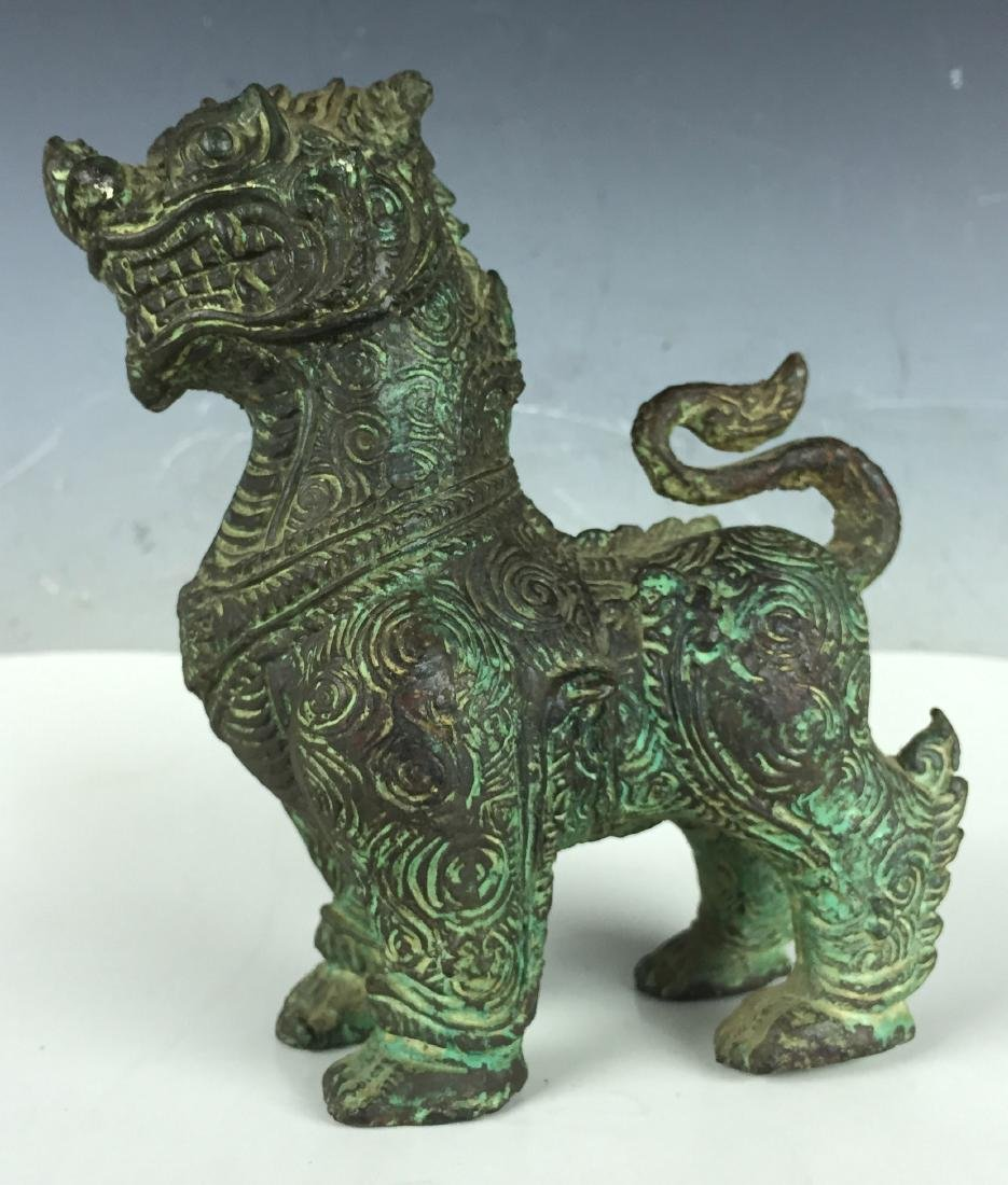 Antique Chinese Bronze Foodog
