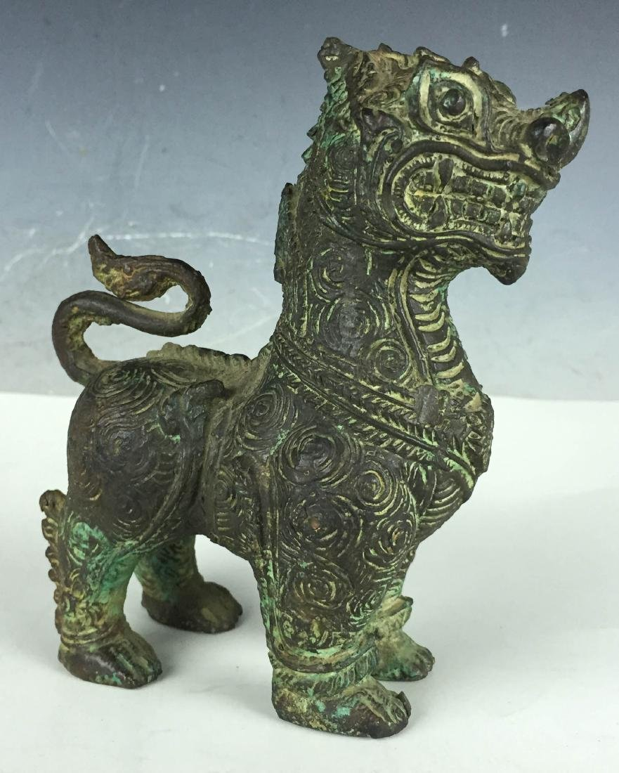 Antique Chinese Bronze Foodog - 2
