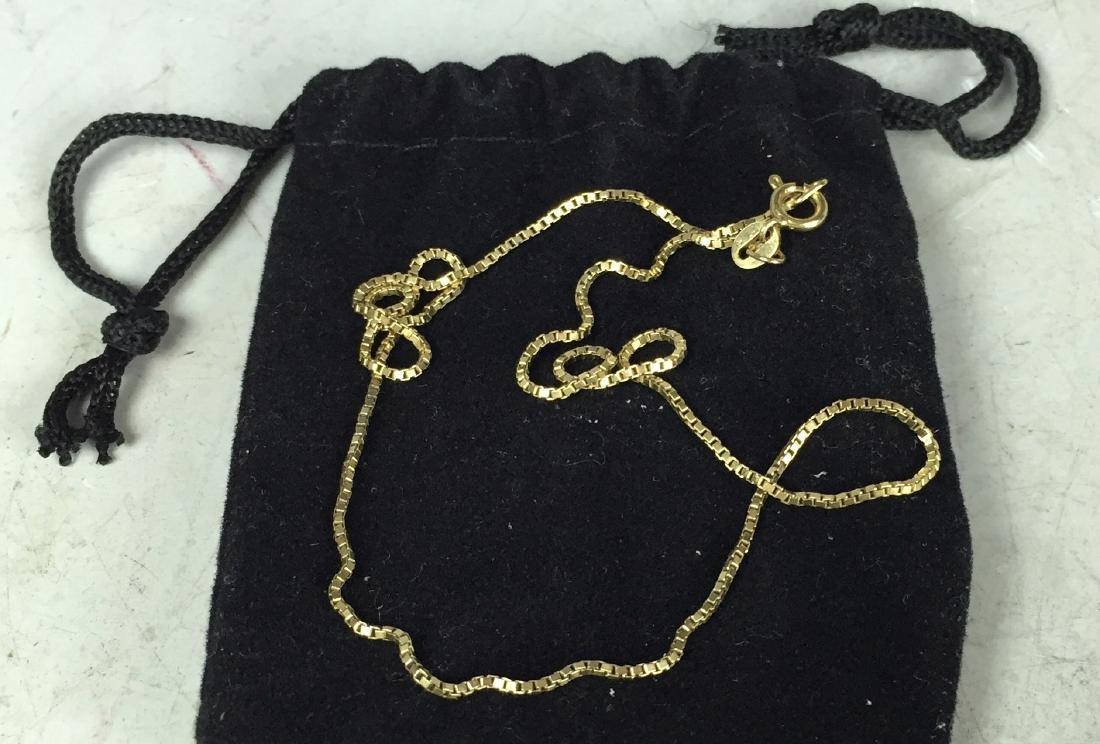 "16"" 14K Gold Chain Jewelry"
