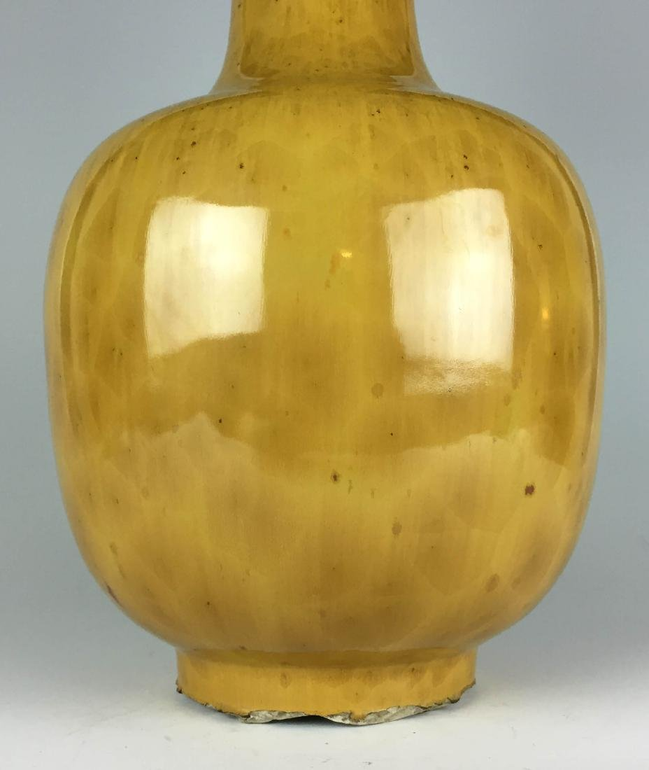 Chinese Yellow Enamal Porcelain Vase - 3