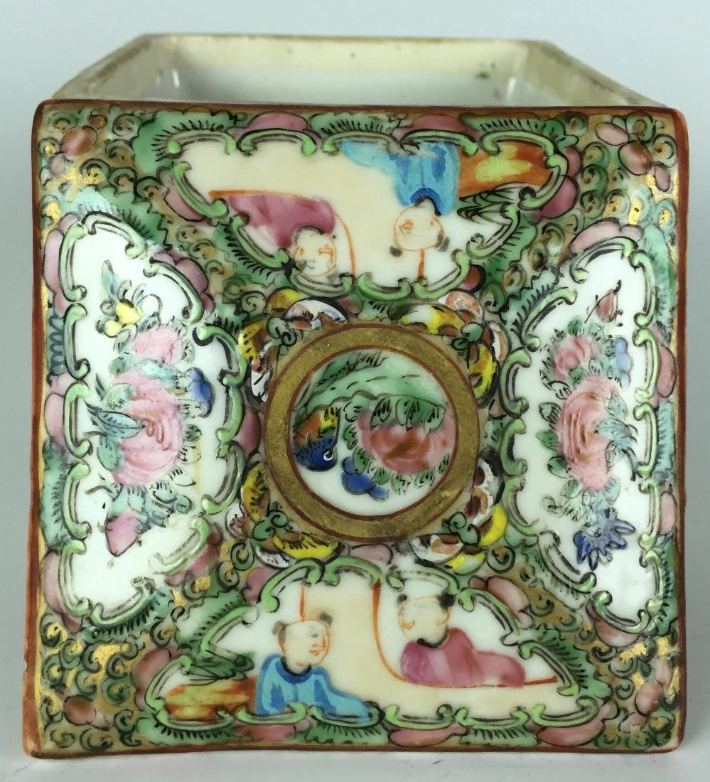 Canton Enamel Porcelain Box - People - 2
